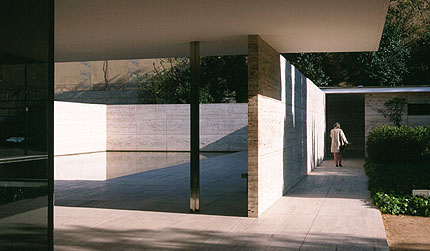 German Pavilion Barcelona By Mies Van Der Rohe