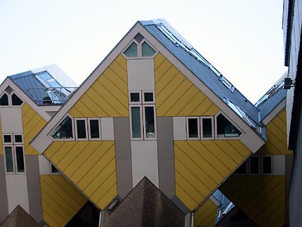 Cubic houses kubuswonig rotterdam by piet blom - The cubic home ...