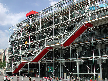Centre Pompidou Paris By Renzo Piano And Richard Rogers