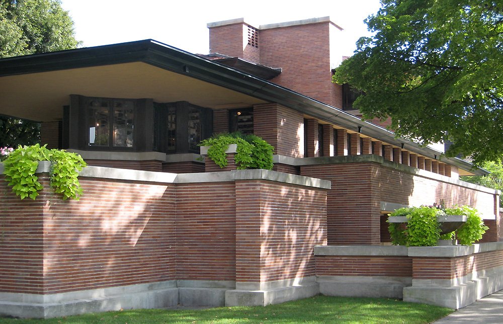 Robie House Chicago By Frank Lloyd Wright