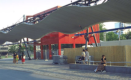 Parc de la villette paris by bernard tschumi - Parking porte de la villette ...